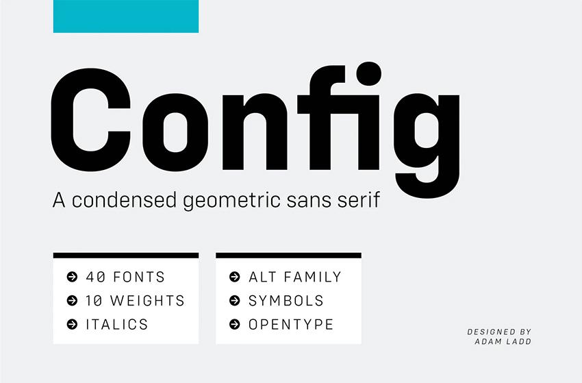 Config font