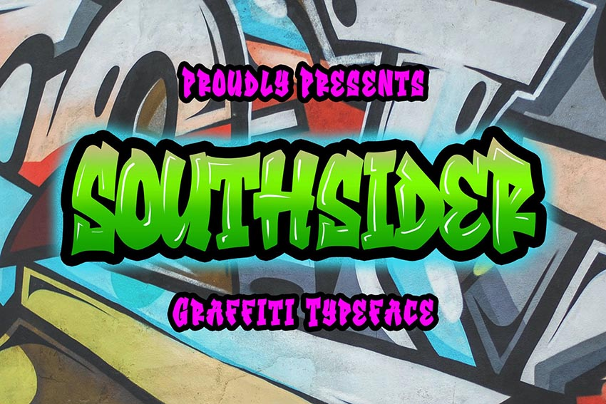 Southsider - Graffiti Typeface