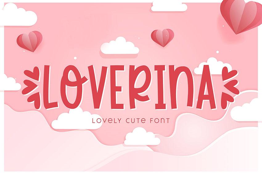 Loverina - Lovely Cute Font