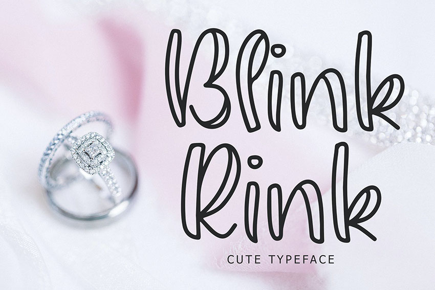 Blink Rink Cute Typeface