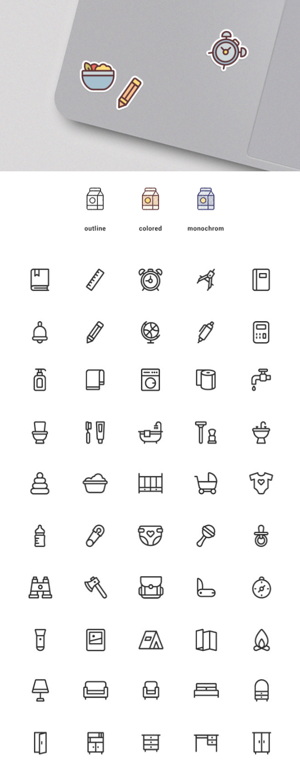 Free Vector Icons - 150 Icons