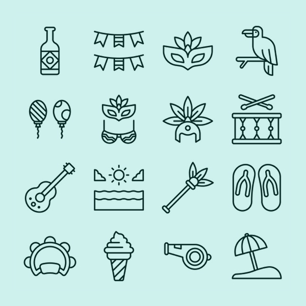 Free Brazil Carnival Icon Set - 16 Icons
