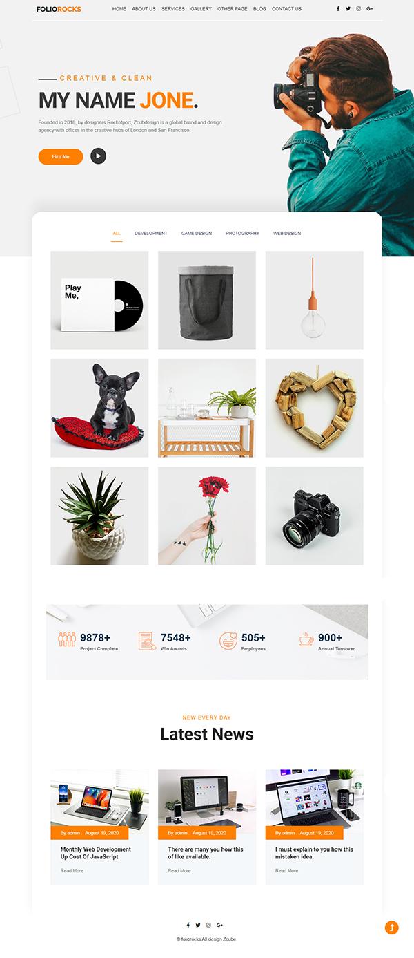 Foliorocks - Minimal Portfolio WordPress Theme