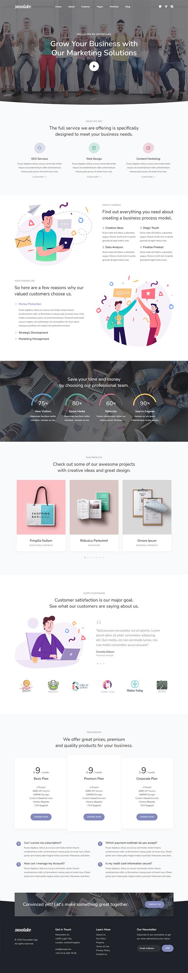 Snowlake - Creative Business & Startup WordPress Theme