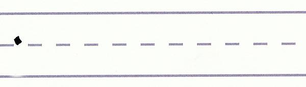 gothic script - downward serif stroke