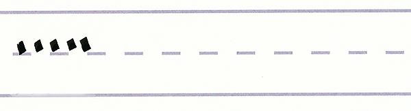 gothic script - downward serif strokes
