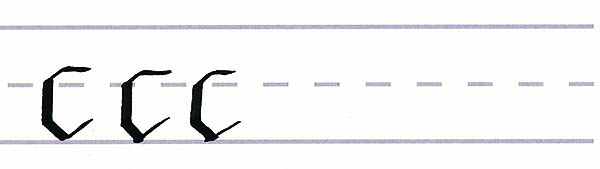 gothic script - letter c multiples