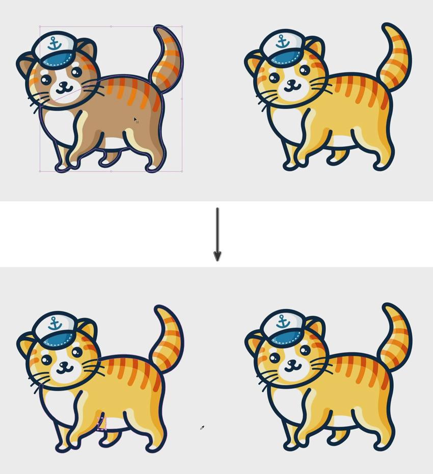 Sailor Cats Cute Kids Logo Template
