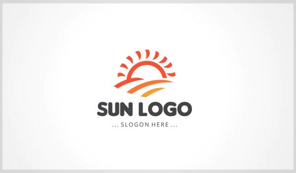 Sun Logo Template