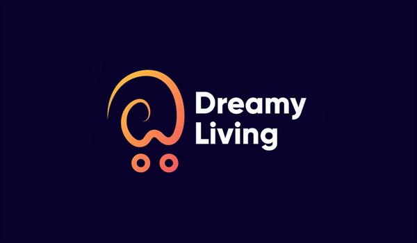 Dreamy Living Modern Ecommerce Logo by Mahdy Hasan Hridoy