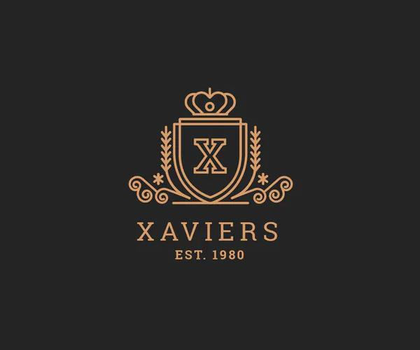 Xavier - Letter X Heraldic Logo Template