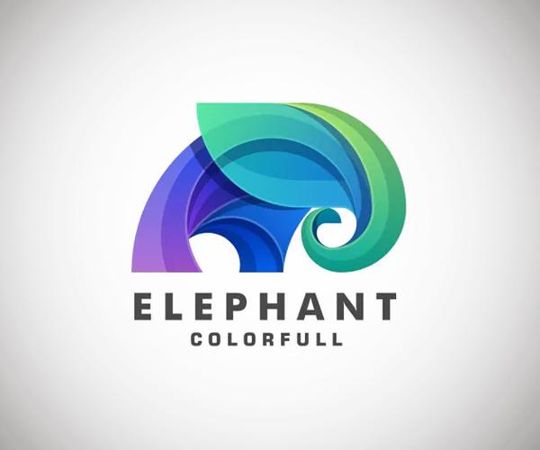 Elephant Gradient with Golden Ratio Logo