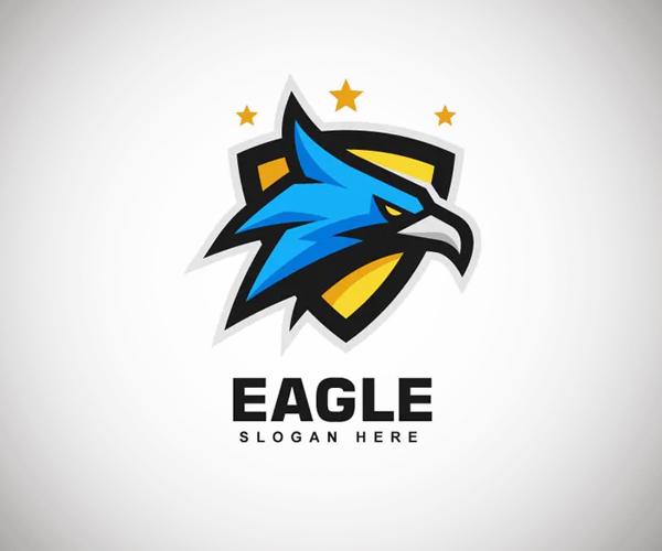 Eagle Head Sports and E-sports Style Logo