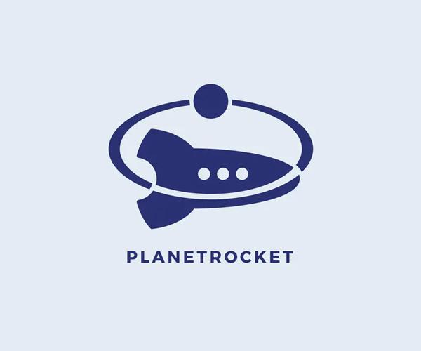 Planet Rocket Logo Template
