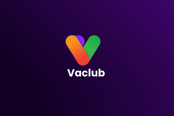 Vaclub Logo - V  Letter Logo Design by LogoAwesomme