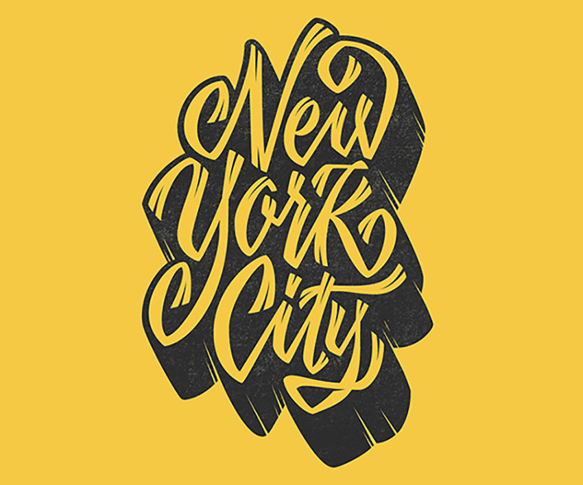 Hand Drawn Lettering Illustrator Tutorial Handling Bezier Finished NYC Vector