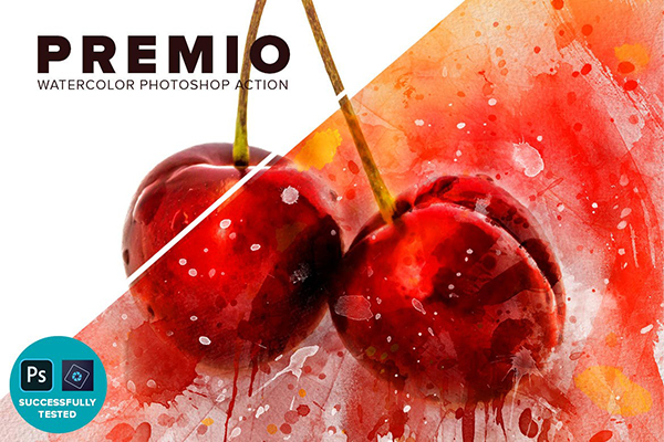 Premio Watercolor Photoshop Action
