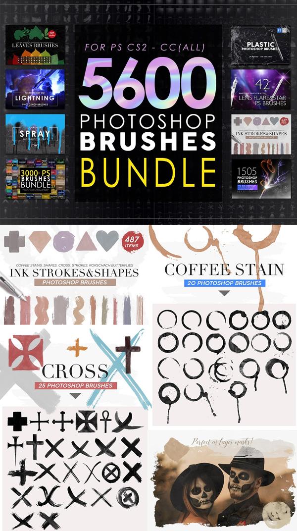 5600 Photoshop Brushes Mega Bundle