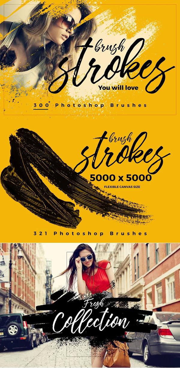 Brush-Strokes Photoshop Brushes