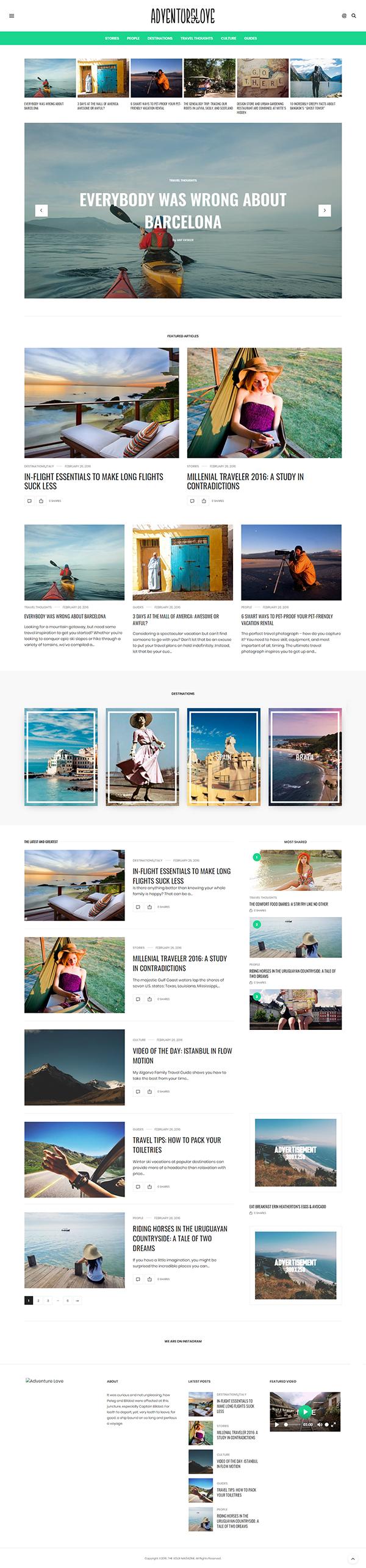 The Voux - A Comprehensive Magazine WordPress Theme