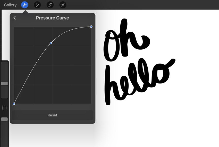 procreate pressure curve