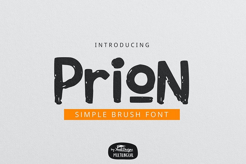 Prion Brush Font