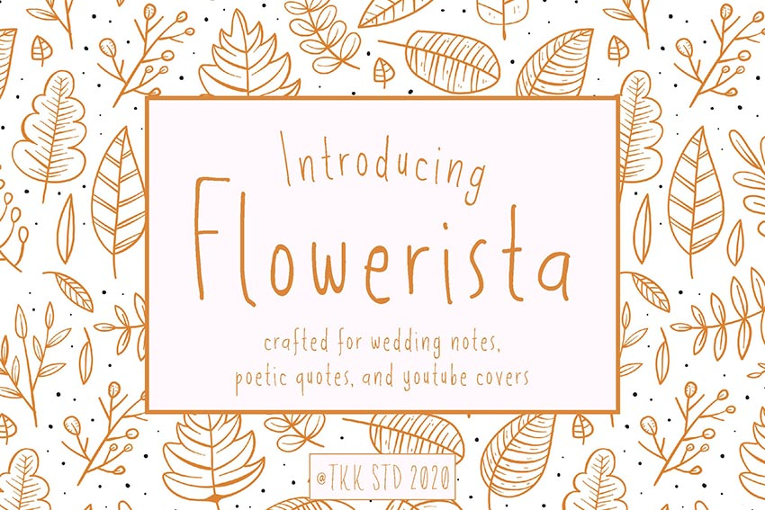 Flowerista - girly handwriting floral style