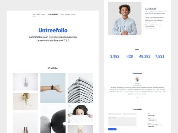 Untreefolio: Free HTML portfolio tempalte