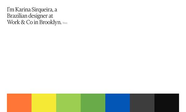 Karina Sirqueira Portfolio - Award Winner Web Design Example - 16