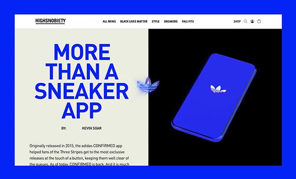 adidas CONFIRMED - Award Winner Web Design Example - 5