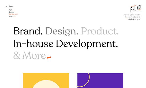 Bruno - Award Winner Web Design Example - 7