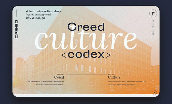 Creed Culture Codex - Award Winner Web Design Example - 8