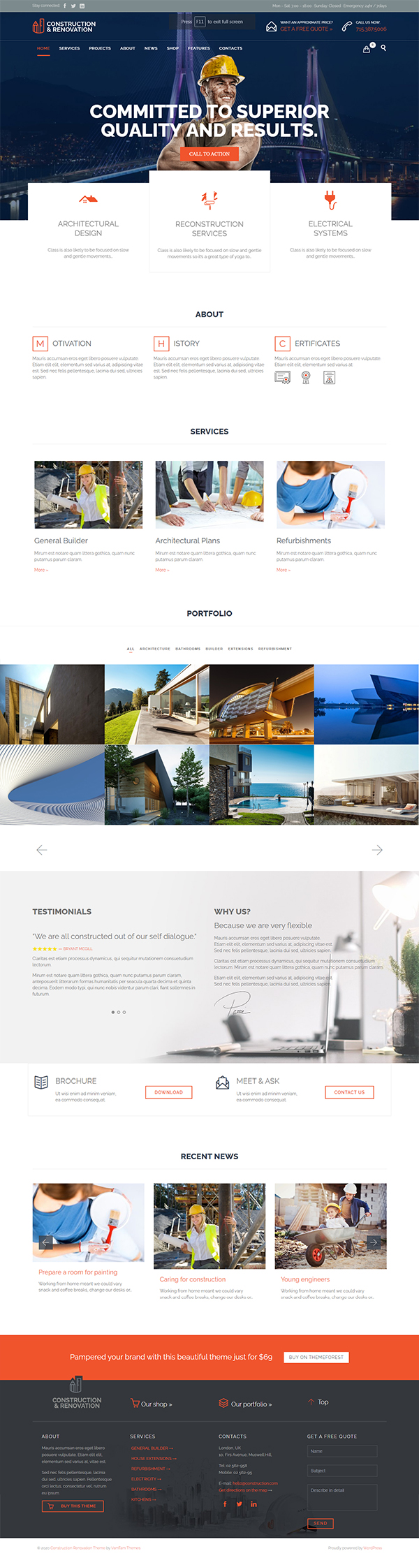 Construction - Building WordPress Theme