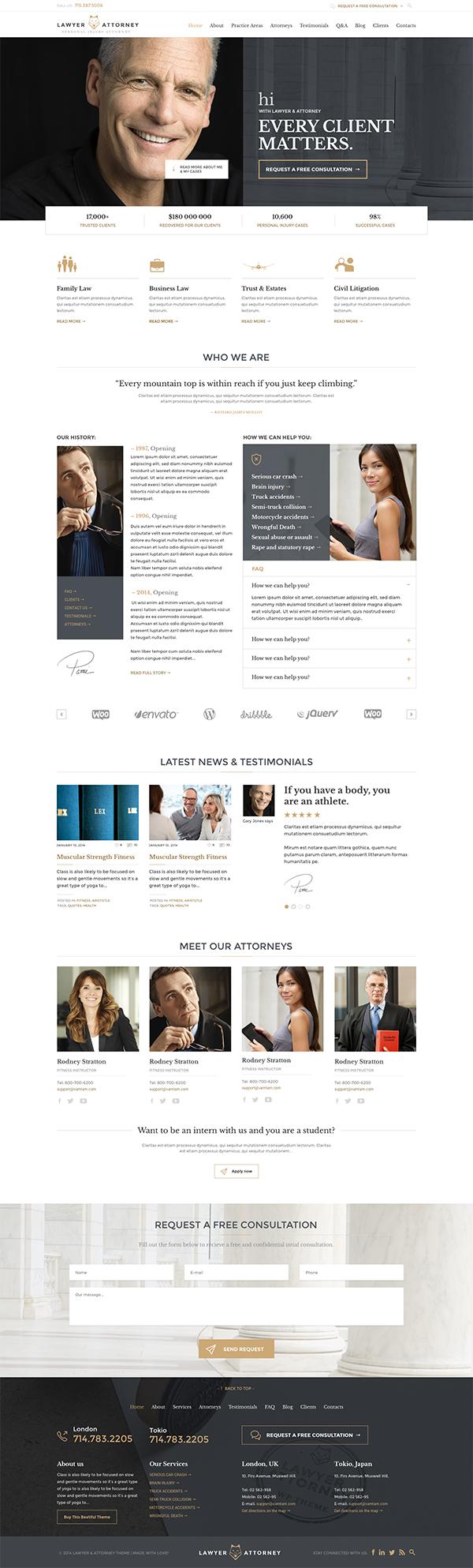 Lawyer & Attorney - Law Firm WordPress