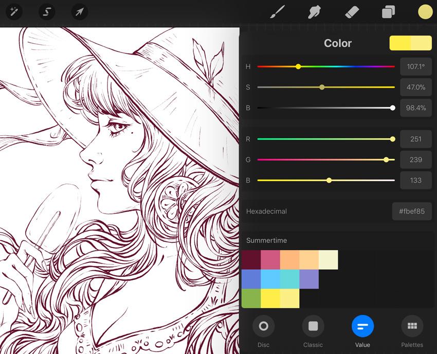 create a palette