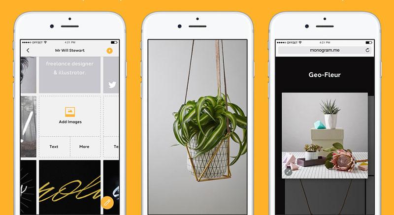 iPhone app for design