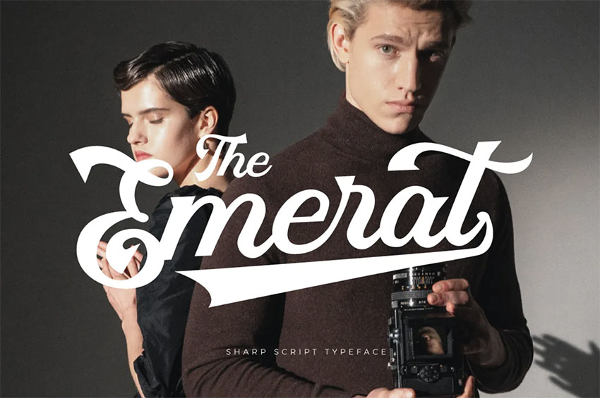 Emerat - Font for Vintage Logo