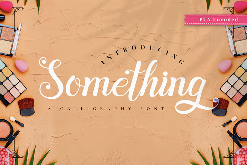Something - Retro Calligraphy Font