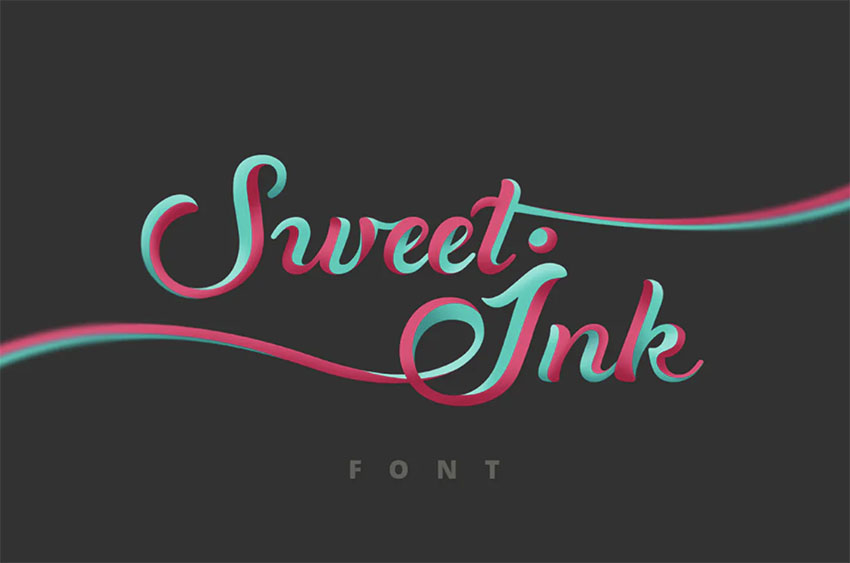 Sweet Ink Retro Calligraphy Font