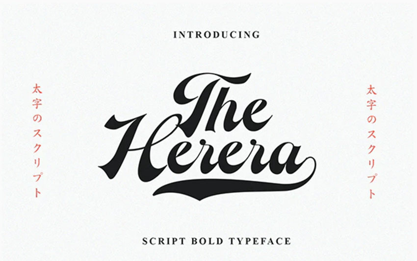 The Herera - Retro Cursive Font