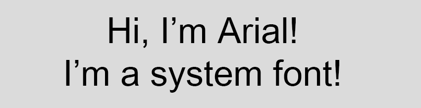 Arial System Font