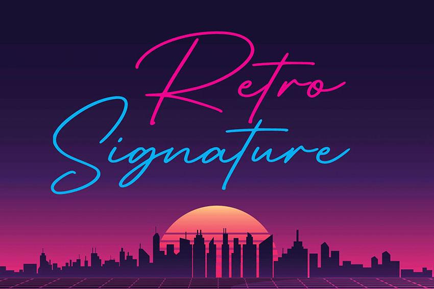 Signature 80s Retro Font