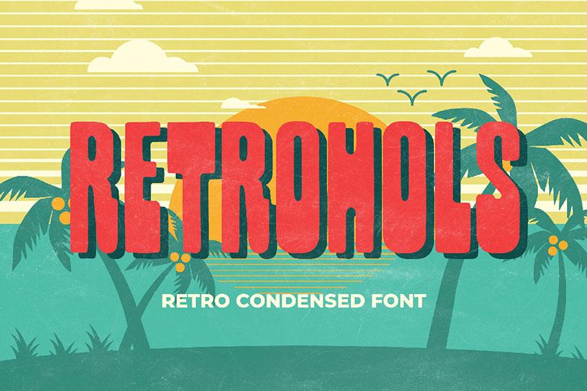 Retrohols - Retro Condensed Font