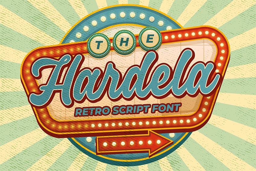 Hardela - Retro Script Font
