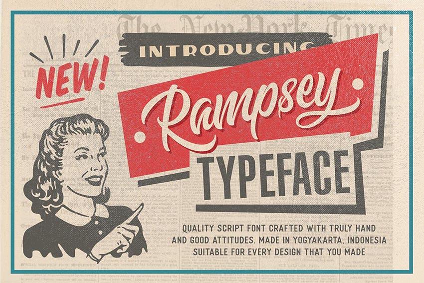 Rampsey Retro Script