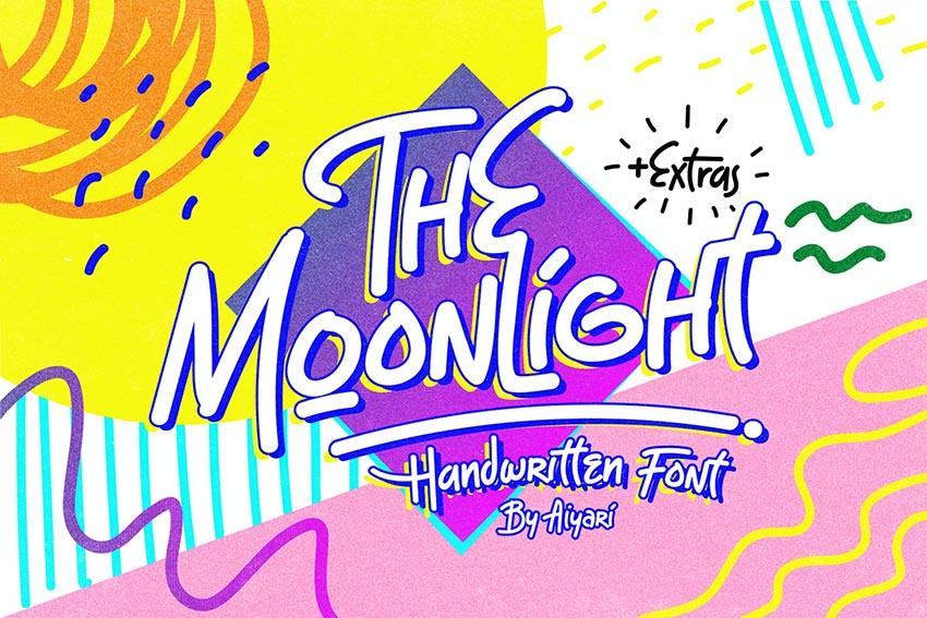 The Moonlight Retro Font