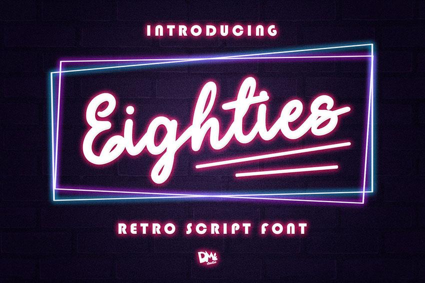 Eighties - Retro Script Font