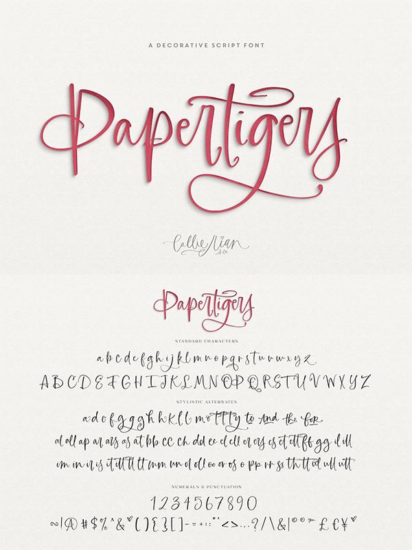 Paper Tigers Script Font