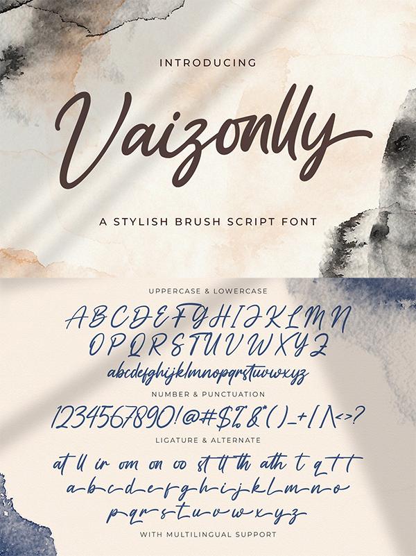 Vaizonlly Bold Script Font