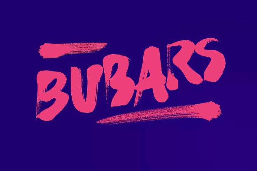 Bubarz Brush Script Bold Font